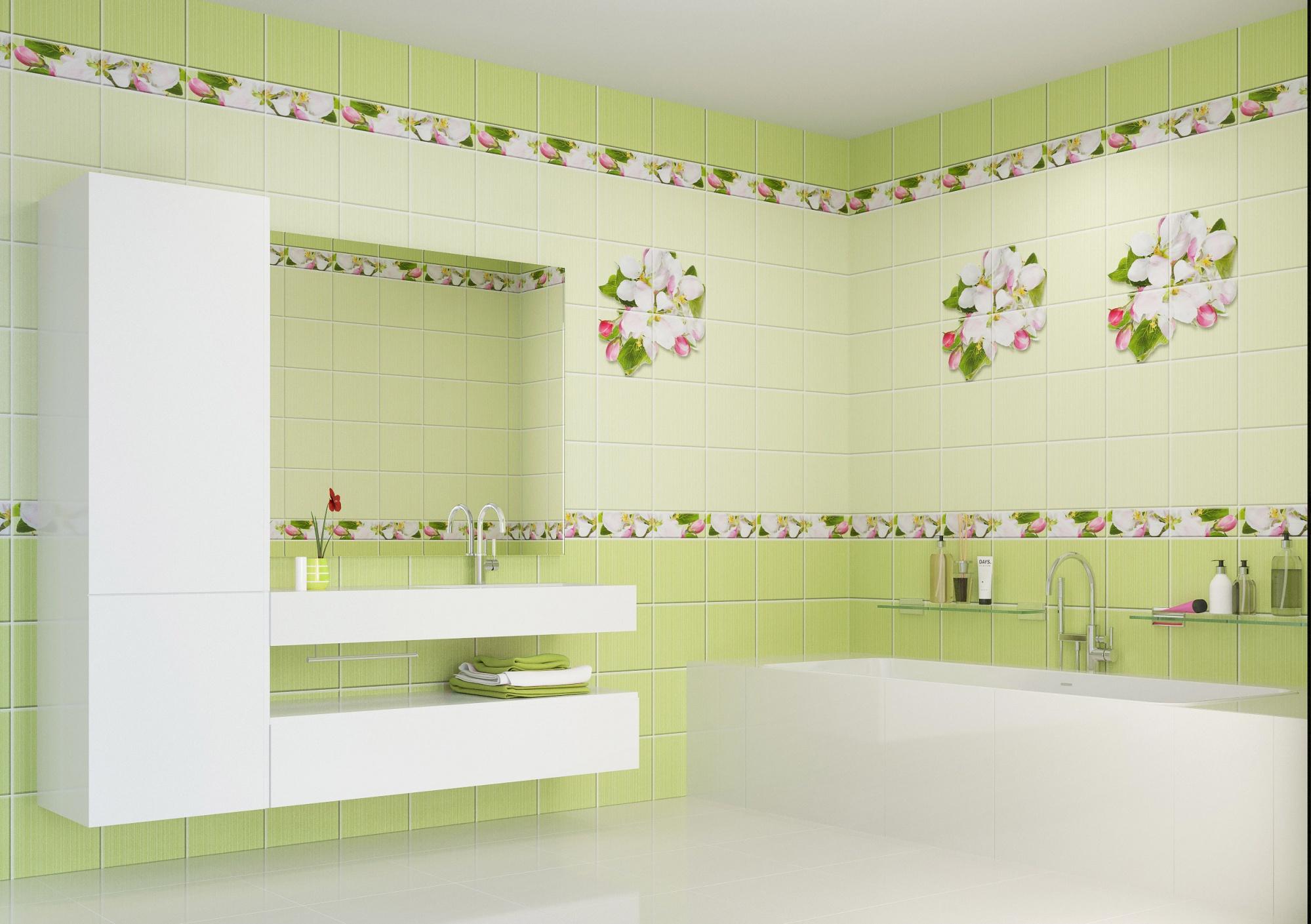 Кухонный фартук яблоневый цвет